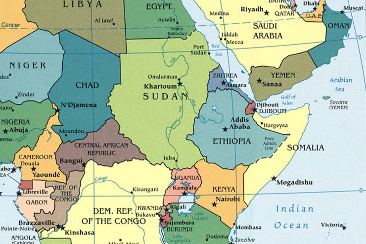 CentralAfricaMap World Politics News - Central africa map
