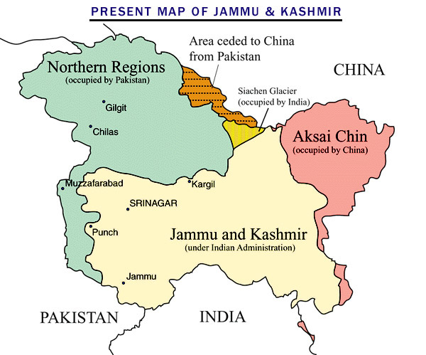 Image result for jammu and kashmir line of control map